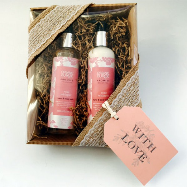 Organic Surge Rose Whisper Hand & Body Bundle - Wrapped as Hamper (+£2.50)