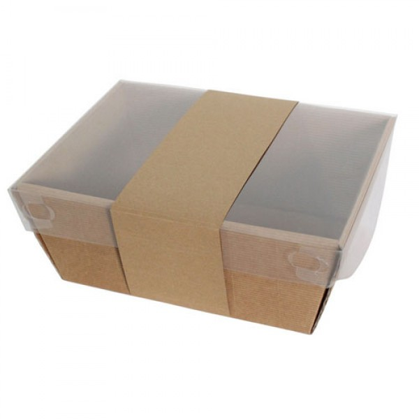 We use eco friendly kraft paper hampers filled with eco friendly shred and decorate with stickers and tags to suit the occasion