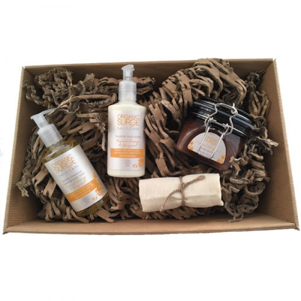 Tropical Bergamot Body Care Bundle (wrapped as hamper +£5)