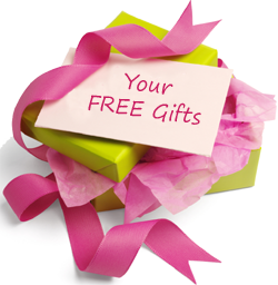 Get up to 5 free gifts with your order