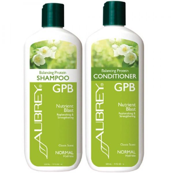 Aubrey GPB Balancing Protein Shampoo & Conditioner Bundle