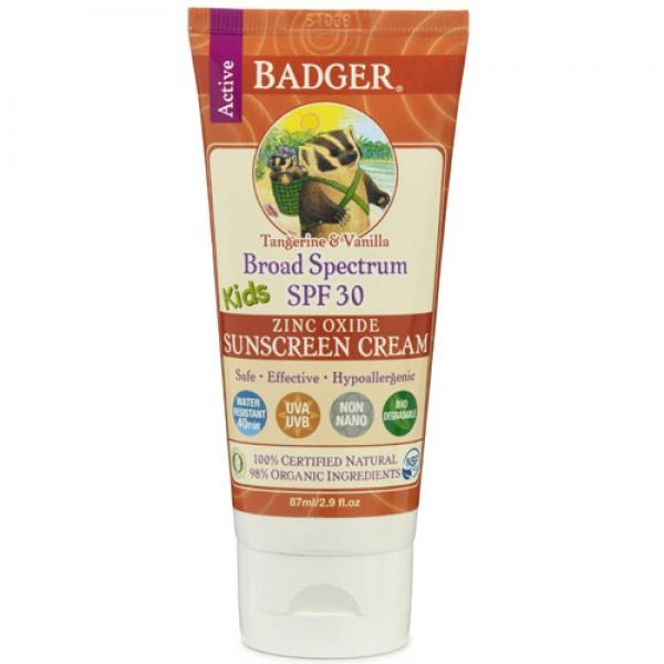 Badger Kids Sunscreen SPF30 Tangerine & Vanilla