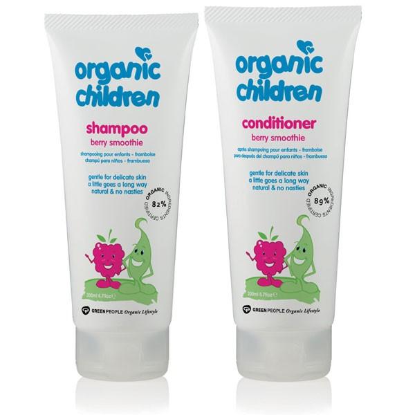 Organic Children Berry Smoothie Shampoo + Conditioner Bundle