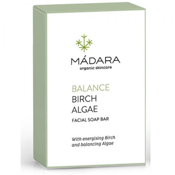Madara Balancing Birch Algae Facial Soap Bar