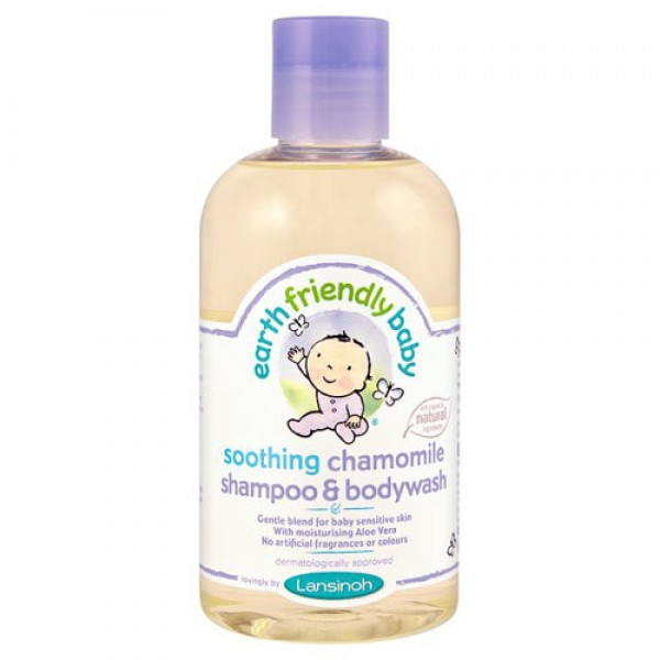 Earth Friendly Baby Soothing Chamomile Shampoo and Body Wash