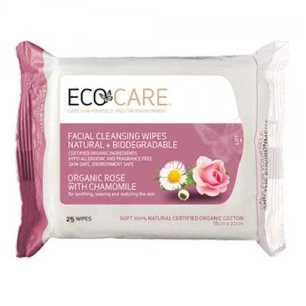 Eco Care Facial Wipes Rose + Chamomile