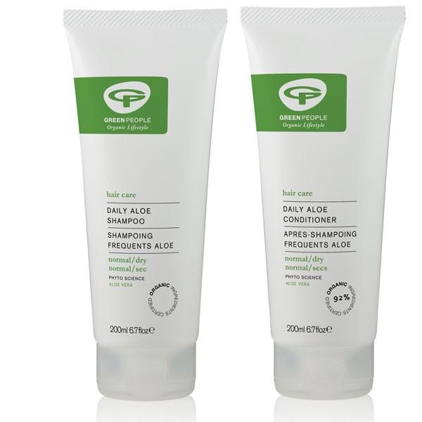 Green People Daily Aloe Shampoo + Conditioner Bundle