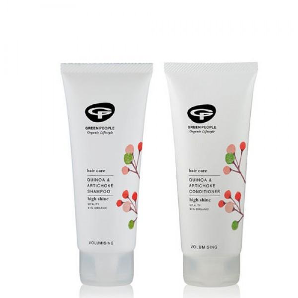 Green People Quinoa + Artichoke Shampoo + Conditioner Bundle