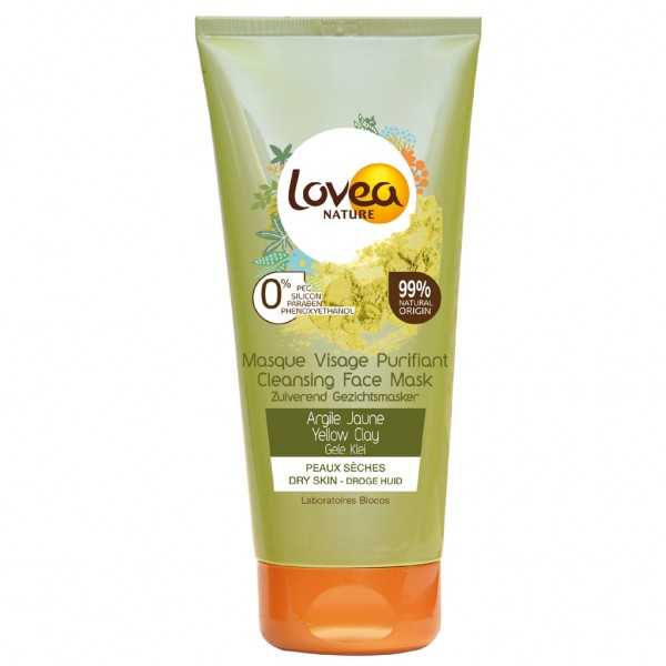 Lovea Purifying Yellow Clay Face Mask for Dry Skin