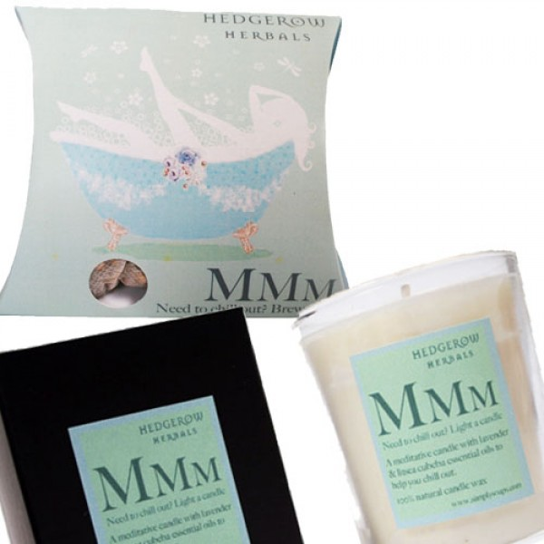Mmm to Chill Out Bath Tea & Candle Gift