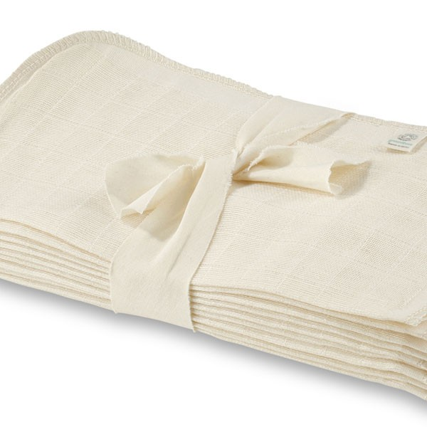 Greenfibres Organic Cotton Muslin Face Cloth / Flannel Pack
