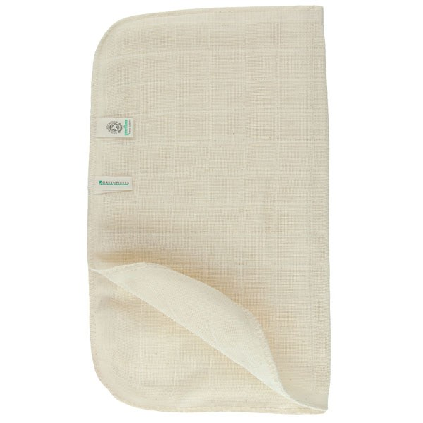 Greenfibres Organic Cotton Muslin Face Cloth / Flannel