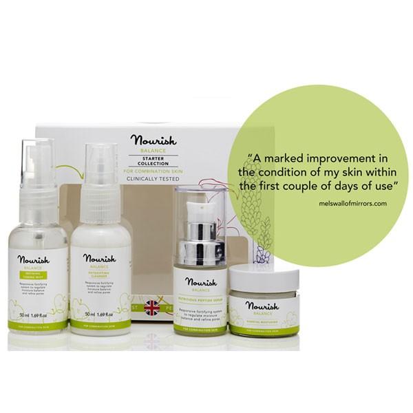 Nourish Balance Starter Collection for combination skin