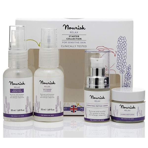 Nourish Relax Starter Collection for sensitive skin