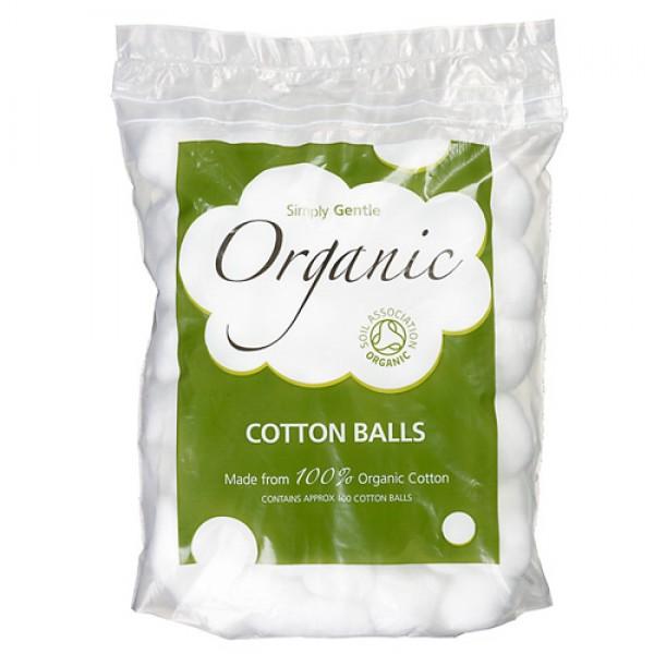 Simply Gentle Organic Cotton Wool Balls (100)