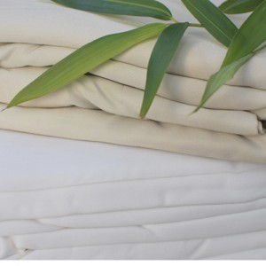 Our bamboo bedding is available in white and latte shades