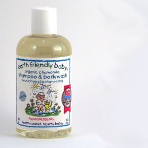 Earth Friendly Baby shampoo in camomile