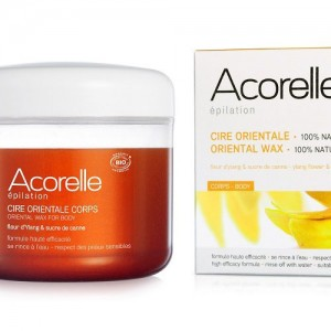 Acorelle Oriental Wax is a sugar wax that will rinse away without leaving a sticky residue