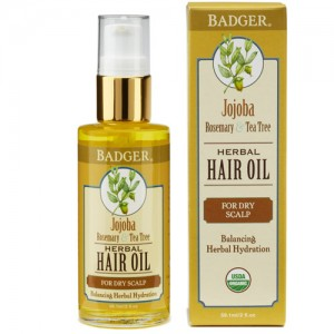 Badger Jojoba Hair Oil (For Dry Scalp)