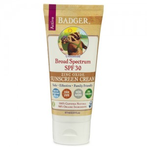 Badger Sunscreen SPF30 Unscented