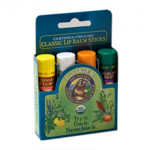 Badger Classic Lip Balm Sticks - Blue