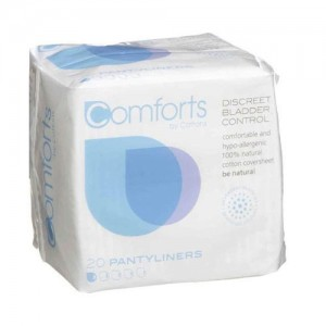 Comforts Panty Liners for bladder weakness