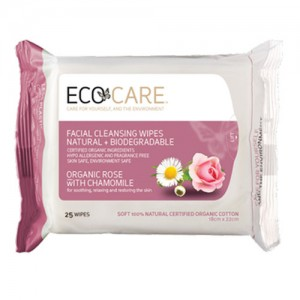 Eco Care Facial Wipes Rose + Chamomile
