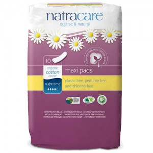 Natracare Maxi Pads - Night Time Sanitary Pads