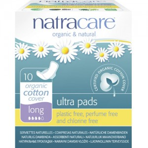 Natracare Ultra Pads Long with Wings