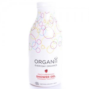 Organii SLS Free Organic Shower Gel with Strawberry Scent