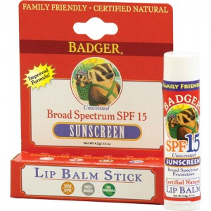 Badger SPF 15 Unscented Lip Balm