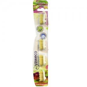 Yaweco Natural Bristle Toothbrush Heads