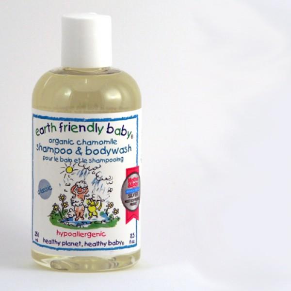 Earth Friendly Baby shampoo in camomile