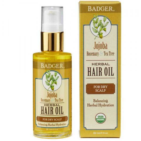 Badger Jojoba Hair Oil (For Dry Scalp)