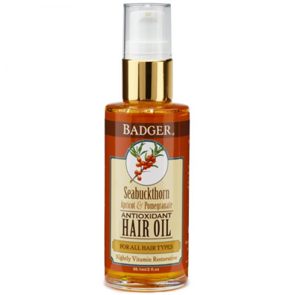 Badger Seabuckthorn Hair Oil for All Hair Types