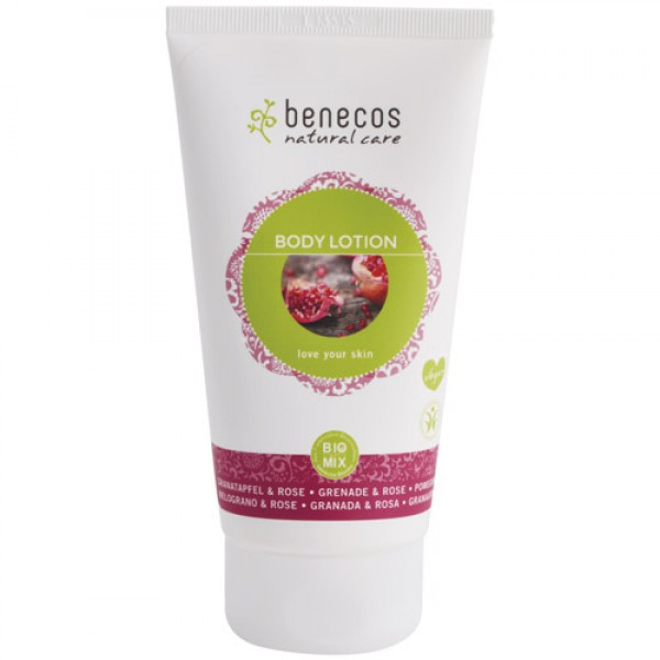 Benecos Body Lotion in Pomegranate & Rose
