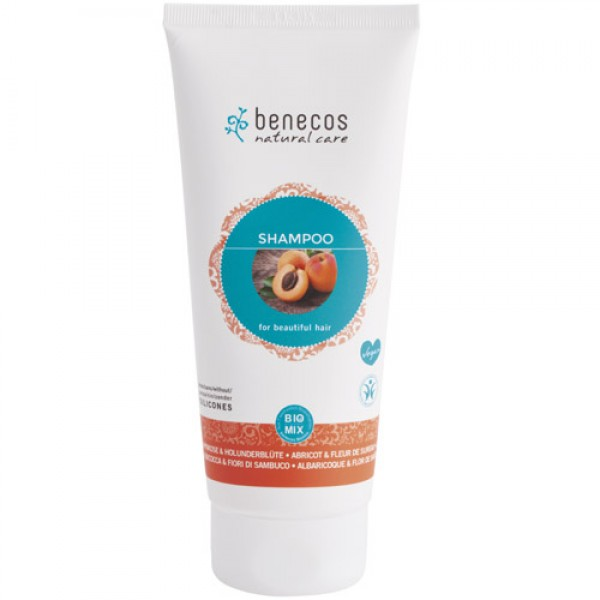 Benecos Shampoo in Apricot & Elderflower (recommended for hair lacking shine)