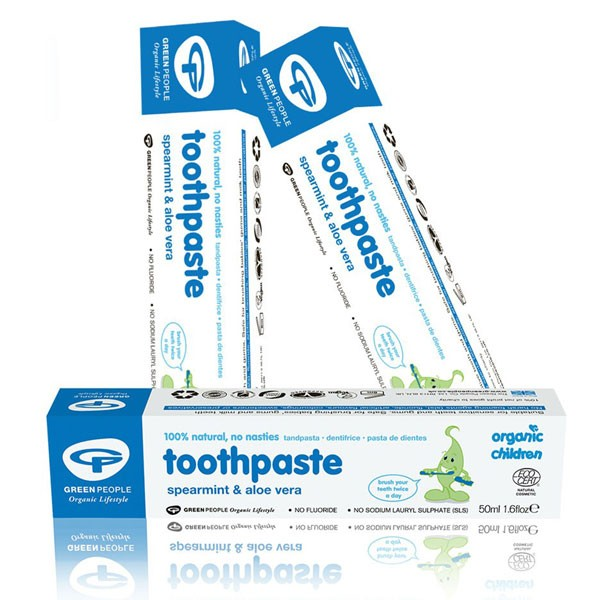 Buy 3 and Save 5% - Green People Organic Children Spearmint & Aloe Vera Toothpaste