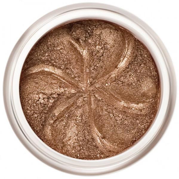 Deep rich bronze shimmer in a natural loose mineral powder formulation.