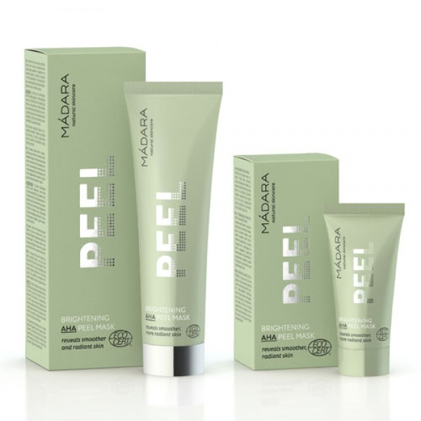 Madara AHA Peel Mask - Recommended twice a week as clarifying treatment for oily, combination skin, skin with enlarged pores, blemishes, acne.