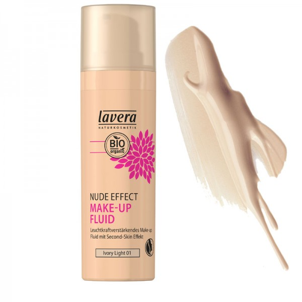Lavera Nude Effect Make Up Fluid - 01 Ivory Light
