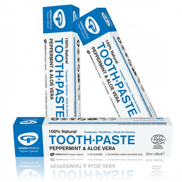 Buy 3 and save 5%: Green People Peppermint Fluoride Free Toothpaste